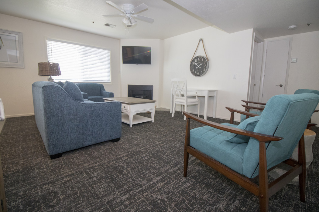 If you're traveling with your family or group of friends, opt for our Two Bedroom Kitchen Suite.
